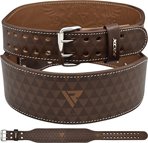 RDX-Weight-Lifting-Belt-4-Cow-Hide-Leather-Back-Support-Double-Prong-Gym-Training-Fitness-Exercise-Workout-Crossfit-Bodybuilding