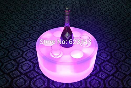 Sekundäre wasserdichte runde Beleuchtung LED schwimmende Champagner-Getränkehalter wiederaufladbare leuchtende Achterbahn LEDflytande Poolbar