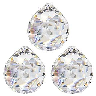 Kristallkugel ø 30 mm 3 Stück 30% Bleikristall Regenbogenkristall Kristall Kugeln zum aufhängen Fensterdeko Feng Shui Kristallglas