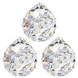 Kristallkugel ø 30 mm 3 Stück 30% Bleikristall Regenbogenkristall Kristall