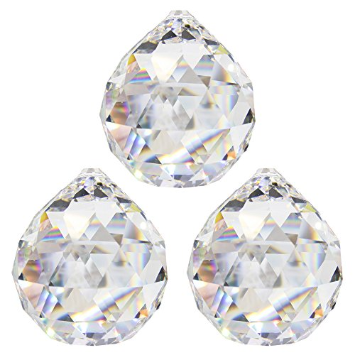 Bola de cristal, Diámetro de 30mm, 3piezas–Cristal Arco iris–Feng Shui–Esotérico