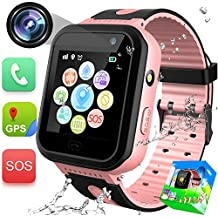 GBD Kids Smartwatch Impermeable con GPS Tracker Phone Watch con SOS Call Camera Pantalla táctil Juego