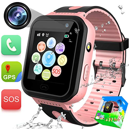GBD Kids Smartwatch Impermeable GPS Tracker Watch Phone con SOS Call Camera...