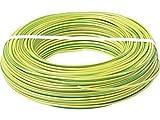 Einzelader H07V-U 1x4 mm² - Aderleitung starr eindrähtig - grün/gelb - 20m - H07V-U 4 mm2
