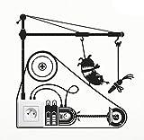 Xbwy Hamster Laufband Art Schalter Aufkleber Wohnzimmer Schlafzimmer Dekorative Wandaufkleber...