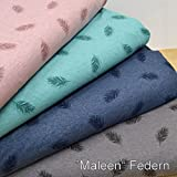 MAGAM-Stoffe Jersey-Stoff ''Maleen Federn'' Kinderstoff in
