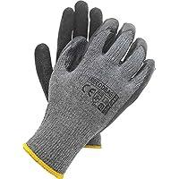 12 pares de guantes de trabajo, reecubrimiento de látex, talla 10