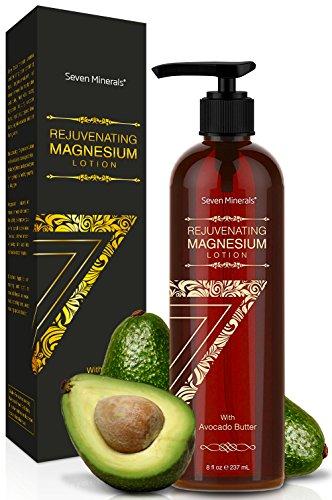 NEUE verjüngende Magnesium-Körperlotion - Gesunde tägliche Feuchtigkeitscreme. Ein vollkommenes Spa für seidige Haut mit Avocadobutter, Anti-Aging-Gelee Royale, organischen ätherischen Ölen & mehr!