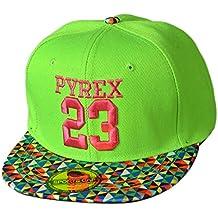 Thenice - Gorra de niño Hip Hop 23 unisex de béisbol, Niños, verde, talla única