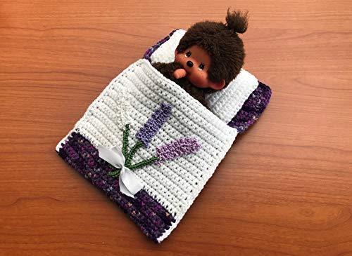 Puppenbettchen - Schlafsack für Monchichi 20 cm Blumenstrauß mit weißer Schleife - Schuhe Blumensträuße