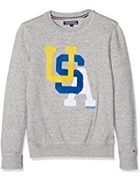 Tommy Hilfiger Ame Towelling Cn Sweater Ls, Suéter para Niños