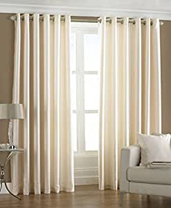 Fresh from Loom Plain Window Curtain - 4 Piece