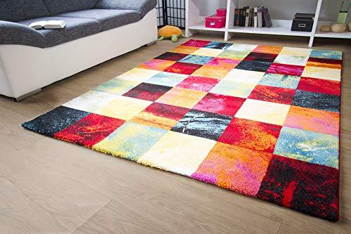 Designer Teppich Modern - Modena - Karo Bunt Öko-Tex Karo Muster, Größe 160x230 cm