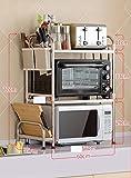 GRY Küchen-Gestell-/Mikrowellenherd-Regale/Dressing-Gestell/Haushalts-Ofen-Gestell/Edelstahlrahmen des Edelstahl-304/eine Vielzahl der Zahnstangen,53 plus vier Sätze