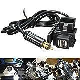 YONGYAO 12-24V Motorrad GPS Handy Dual USB Power Versorgung Port Socket Charger Für BMW
