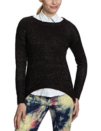 ONLY Damen Pullover 15068578/PETRA BOXY PULLOVER KNT, Gr. 34 (XS), Schwarz (BLACK Detail;Colorful Lurex)