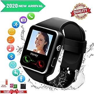 Mahipey Smartwatch con Whatsapp,Bluetooth Smart Watch Pantalla táctil,Reloj Inteligente Hombre con Cámara