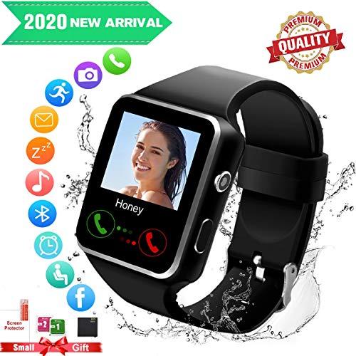Bluetooth Smartwatch con Camera,Smart Watch Phone Touchscreen,Smart Orologio,Impermeabile Orologio Intelligente con SIM Card...