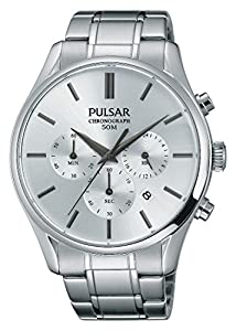 Pulsar–Reloj de Pulsera Hombre cronógrafo Cuarzo Acero Inoxidable pt3775X 1 de Pulsar
