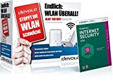 Kaspersky Internet Security + devolo dLAN 500 WiFi Starter Kit Powerline (sicheres und schnelles...