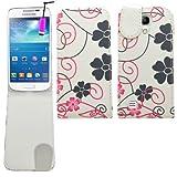 SAMRICK - Samsung i9190 Galaxy S4 IV Mini & i9192 Galaxy S4 IV Mini (Dual-Sim) - Geblümt Blumen Spez