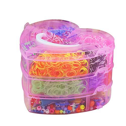 Gummibänder Für Haar, Bunte Webstuhl Bands Twister Fall Kit Armband, Werkzeuge Kits Für Kinder Erwachsene Webstuhl DIY Handwerk 4000 stücke -