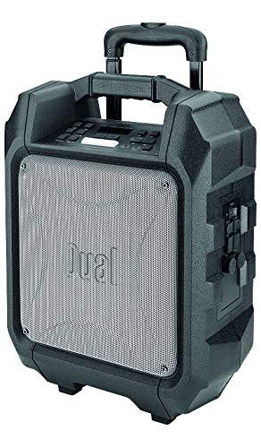Mobiles Soundsystem - UKW-Radio - Lautsprecher - Mikrofon-Eingang - Bluetooth - USB-Anschluss - AUX-Eingang - Netz-/ Akkubetrieb - Tragbar - Schwarz - Dual DSBX 95 Dual Mobile