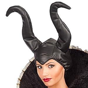 Carnaval 06129 - Lujo Sombrero bruja Maléfica, en Faux, en Busta