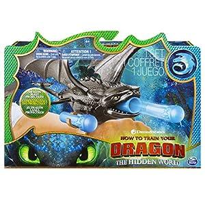 Dragons 3-6045115-Juego Infantil-Figura de acción-Lanzador de muñecas-Película 3el Mundo Oculto-Modelo Aleatorio