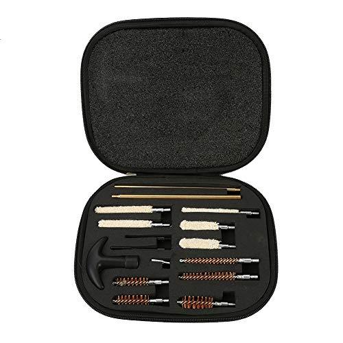 Alomejor 16 stücke Multi Gun Cleaning Kit Fall Shotgun Reiniger Bürstenstange Wartung mit Tragetasche für Gewehr Pistole Pistole -