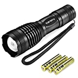 Vansky® 700 Lumen Cree Led Torch Pocket Torch Adjustable Focus LED Light Zoomable led flashlight Water Resistant Camping Torch, 3 x AAA Batteries Included