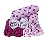pippi Premium Mulltücher Set 8 Stück Spucktücher Mullwindeln doppelt gewebt (Waldtiere-Sterne lila-rosa)
