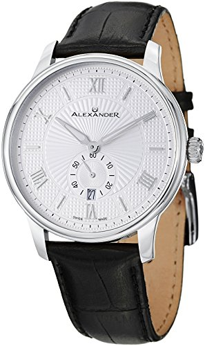 alexander-statesman-regalia-stainless-steel-case-on-black-embossed-genuine-leather-strap-silver-patt