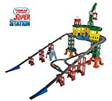 Thomas & Friends FGR22 Super Station, Thomas the Tank Engine Toy Train Set and Railway Track, Mini Wooden Adventures, 3 Year Old
