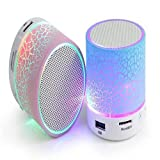 #1: Roboster Rechargeable Bluetooth Speaker WITH LED Wireless Bluetooth Speaker with Handsfree Calling Feature, FM Radio & SD Card Slot - Assorted Color