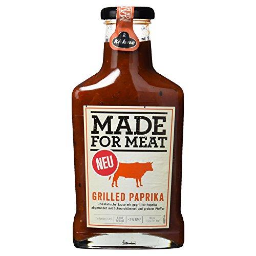 Kühne Grillsauce Made for Meat Grilled Paprika, 1er Pack (1 x 375 ml)