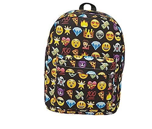 Imagen de samgu bolso de hombro del estilo del emoji  bolsa de viaje al aire libre color negro