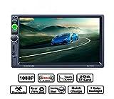 Auto da 7 pollici con radio universale MP5 dual DIN Radio multimediale con supporto a distanza touch screen HD Bluetooth / formato audio video / USB / TF card / ingresso telecamera posteriore