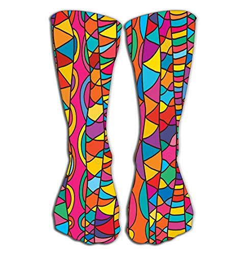 Jxrodekz Outdoor Sports Men Women High Socks Stocking line Vertical Drawing Style Seamless Pattern Lines Texture Textile Fabric Background Graphic Tile Length 19.7