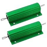2pcs 4,7Ohm screw Tap Montada aluminio Ubicado Bobinado Resistencia 100W