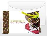 Geschenkgutscheine für Kunden, branchen-neutral bunt, 25 edle Klapp-Karten mit Umschlag, blanko, selbst beschriften mit Euro-Betrag, Name & Firmen-Stempel, beliebte Geschenk-Idee auch zu Weihnachten