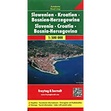 Slowenien - Kroatien - Bosnien-Herzegowina, Autokarte 1:500.000, freytag & berndt Auto + Freizeitkarten