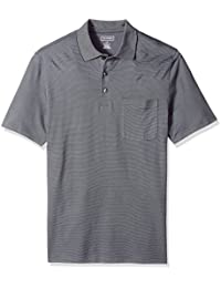 0ba9062638cda Van Heusen Men s Big and Tall Jacquard Stripe Short Sleeve Polo Shirt