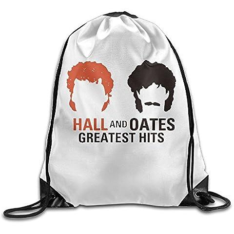 Canace Hall y Oates Greatest Hits deportes al aire libre cordón bolsas mochila, Blanco, talla