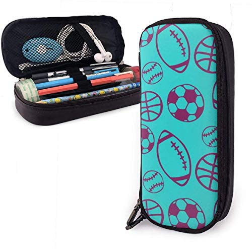 Football and Rugby Pencil Case for Boys and Girls Large Pencil Pouch Holder Pen Case for Student College School Supplies & Office