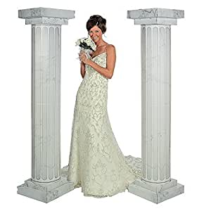 Buy 6\' Marble Look Fluted Columns Pillars 2pc Set Wedding Ceremony ...