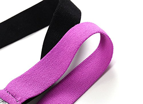 Lever Damen Sport BH Gepolstert Bügellos Push Up Mittlerer Halt Yoga BH Crossback Schwarz