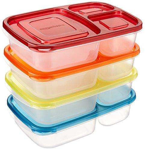 AmazonBasics - Set di contenitori alimentari per pranzo, 4 pz
