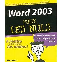 WORD 2003 2ED PR NULS
