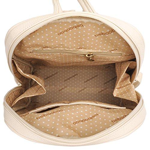 LAIDAYE Damen Schultertasche Rucksack Handtaschen College Wind Rucksack PU Schüler Taschen Brown